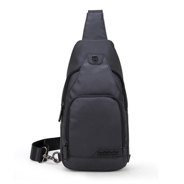 Men Oxford Casual Sport Small Black Shoulder Crossbody Bag Chest Bag