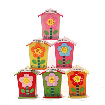 1PCS Wooden Money Saving Little House Flower Love Heart Animal Box Gift