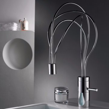 Unusual Design Kitchen Faucet Single Handle Basin Sink Mixer Tap Spout