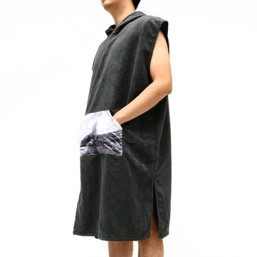 KCASA BT-909 Microfiber Cloak Costume Hooded Toweling Bathrobe Towel Lazy Bathrobe Cloak