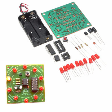 DIY Wheel Of Fortune Training Module Kit Electronic Lucky Rotary LED Flash Kit