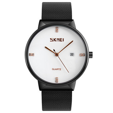SKMEI 9164 Ultra Thin Mesh Band Men Quartz Watch