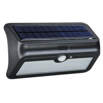 Original Garden Porch 46 LED Solar Power Wall Lámpara 950lm Moción Sensor Wireless Impermeable Exterior Exterior al aire libre luz de pared