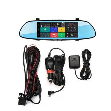 iMars 7 Inch Car Rear View Mirror Dash Camera HD 1080P Android Dual Lens DVR Camera 3G WIFI GPS
