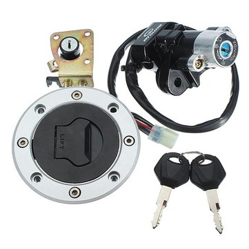Ignition Switch Cap Lock Set With 2 Keys For Suzuki GSXR600 97-00 GSXR750 93-99