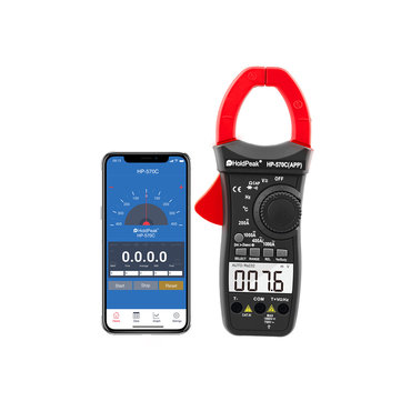 HoldPeak Digital Clamp Multimeter HP-570C-APP 1000A AC/DC Current Voltage Temperature Meter