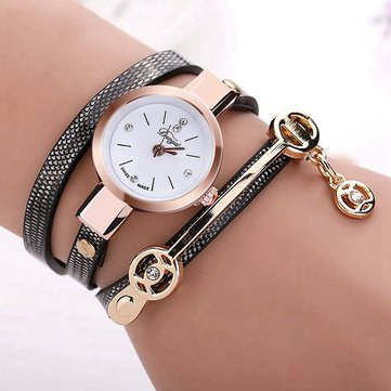 DUOYA XR1297 Retro Style Gold Case Gift Bracelet Watch
