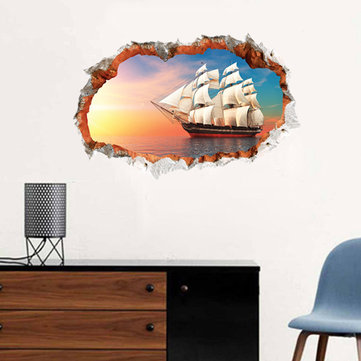 Miico 3D Creative PVC Wall Stickers Home Decor Mural Art Removable Navigation Wall Decals