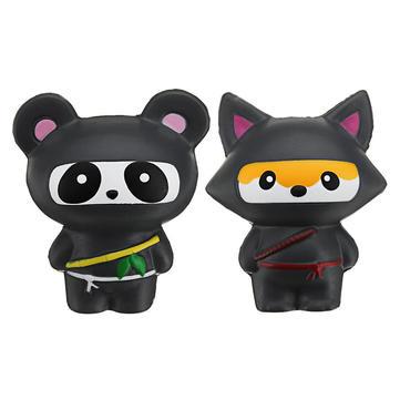 14cm Cute Jumbo Squishy Ninja Cat Fox Panda Scented Super Slow Rising Kids Toy Gift