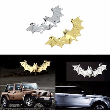 3D Car Metal Chrome BAT Logo Emblem Decal Emblem Badge Truck Auto Motor Sticker