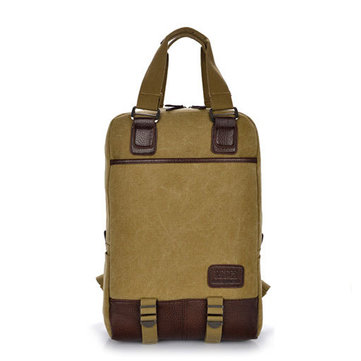 14-15inch Laptop Men Women Canvas Casual Backpack Outdoor Knapsack