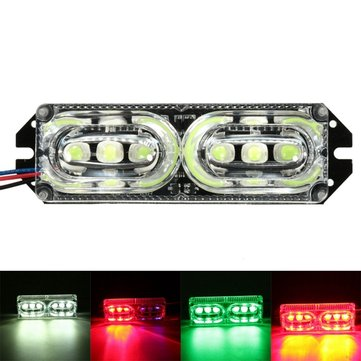 12V 6LEDs Motorcycle Warning Brake Tail Light Stop Strobe Flashing Emergency Lamp