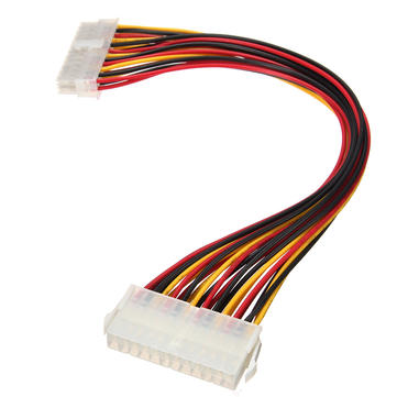 30CM ATX 24 Pin Male to Female Extension Cable Internal PC PSU TW Power Lead