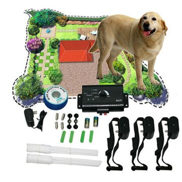 New Underground Shock Collar 3 Collars Pet Dog Electric Fence for 3 Dogs
