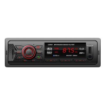 YT-C1259BT Car FM Radio Stereo Bletooth MP3 Player USB MMC SD AUX BT Fixed Panel