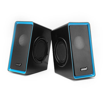 SADA V-15 Computer Speaker 2PCS Portable Wired Speakers Stereo Bass Home Soundbar