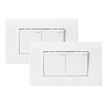AC 110-250V Durable 118Type Brazil Chile Standard 1/2 Gang Wall Switch Ivory White Light Switch For LED Button Switch