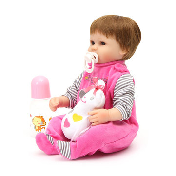 NPK 16 '' Real Handmade Play House Doll Toys Real Gentle Touch Soft Body SIlicone Reborn Baby Dolls