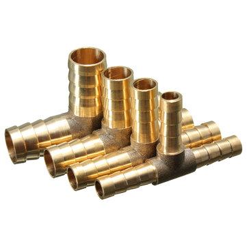 Pagoda Adapter Brass Barbed T 3 Ways Pipe Fitting 6/8/10/12mm Pneumatic Component Hose Quick Coupler