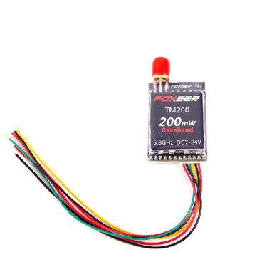 Foxeer TM200 200mW 5.8G 40CH VTX FPV Transmetteur AV pour Racer Quadricoptère