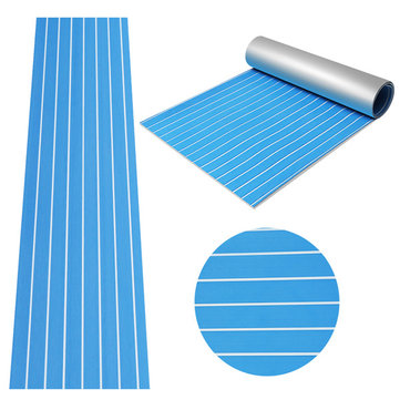 90x240cm Blue with White EVA Foam Teak Boat Flooring Sheet Yacht Synthetic Teak Decking Pad