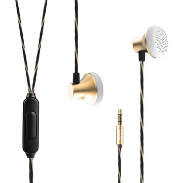 Mixza V03 HIFI 3.5mm Earphone Noise Cancelling Stereo Music Headphone with Mic for iPhone Samsung