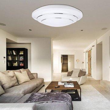 24W 1900lm LED Ceiling Light Surface Mount Round Panel Lamp Bedroom Living Room 85-265V