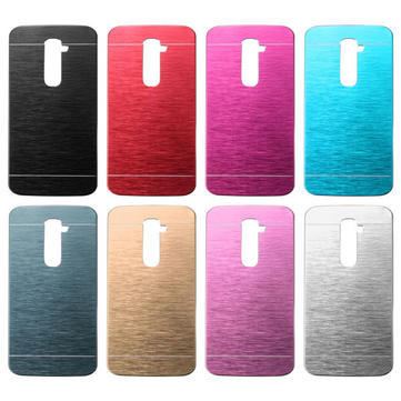 Luxury Brushed Aluminum Metal PC Hard Back Cover Case For LG G2