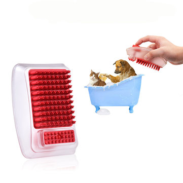 2 in 1 Pet Bathing Brush Shampoo Dispenser Cleaning Massage Brush Bath Cleaning Brushes