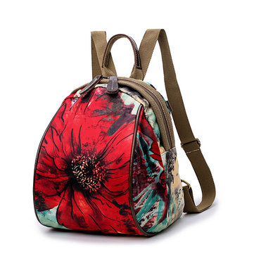 Women Nylon Flower Pattern National Style Handbag