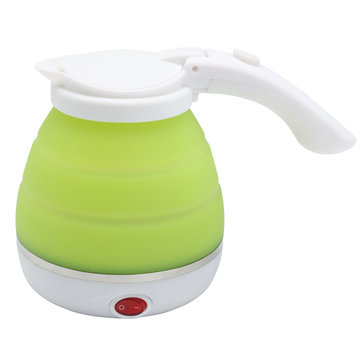Silicone Foldable Collapsible Electric Water Kettle Camping & Travel Boiler