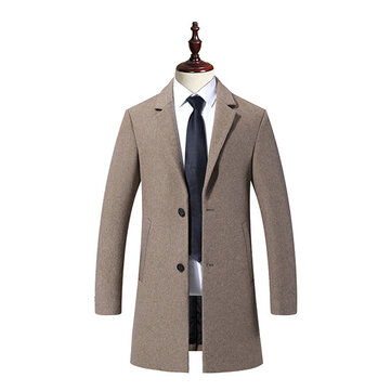 Casual Business Fashion Warm Wool Trench Coat