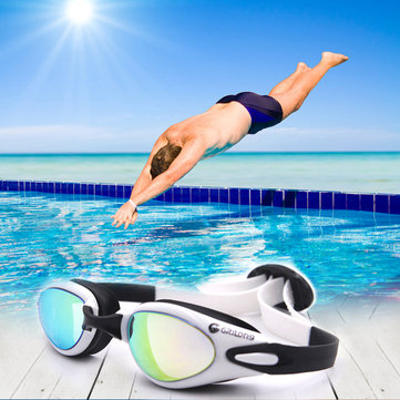 US$16.04 53% Men Women HD Waterproof Anti-fog Electroplating Swimming Goggles Silicone Anti-UV Glasses with Case Men's Accessories from Clothing and Apparel on banggood.com