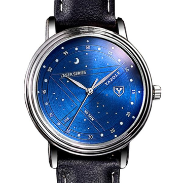 YAZOLE 366 Fashion Men Quartz Watch Casual Stars Pattern Dial Wrist Watch