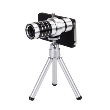 IPRee® Aluminum Alloy 12x Mini HD Mobile Phone Telescope for Phone Lens Photographic