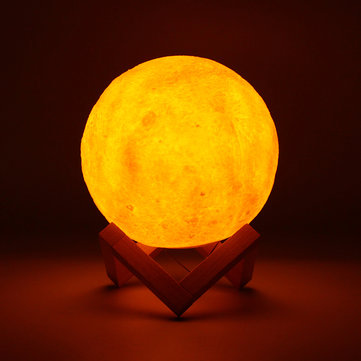 15cm Magical Two Tone Moon Lamp USB Rechargeable Luna LED Table Night Light Touch Sensor Gift Rope
