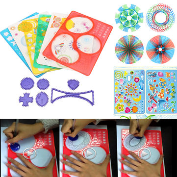 12pcs Creative Original Spirograph Design Set DIY Draw Drawing Kids Art Craft