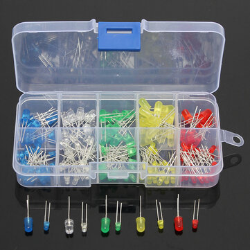 Geekcreit® 375pcs 3MM 5MM LED Light Emitting Diode Beads Resistance Lights Kits Bulb Lamp
