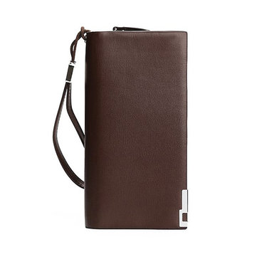 Men RFID Antimagnetic Multifunctional Business Long Wallet