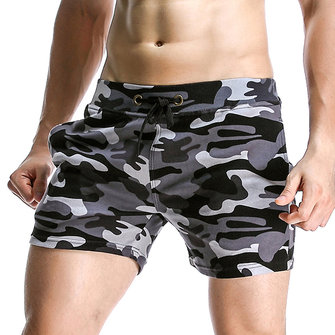 Spring Summer Men's Sportscamouflage Causal Shorts Breathable Soft Three Pants