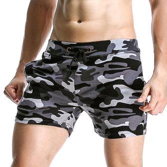 Printemps été Sportscamouflage Hommes Causal Shorts Respirant Soft Trois Pantalons