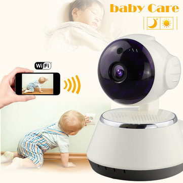 720P HD Wireless Pan Tilt WIFI Camera Security Network Night Vision