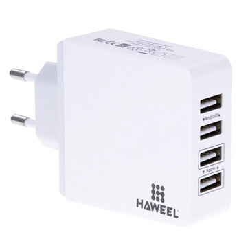 Haweel 5V 3.1A EU Plug 4 Port USB Wall Charger Travel Adapter For iPhone 7 Samsung S8 Xiaomi 6