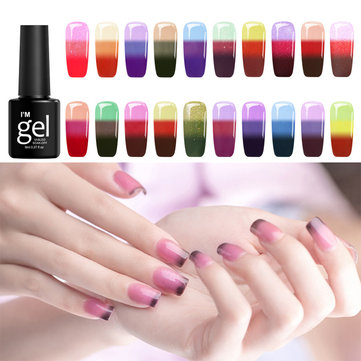 24 Colors Temperature Colors Change Soak-off UV Nail Gel Polish DIY Nail Art