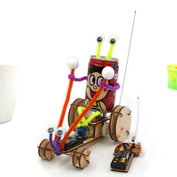 DIY Educational Electric 2CH Jumper Robot Car Kit Scientific Invention Toys