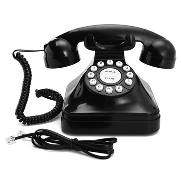 Vintage Retro Antique Phone Wired Corded Landline Telephone Home Desk Decoration Black
