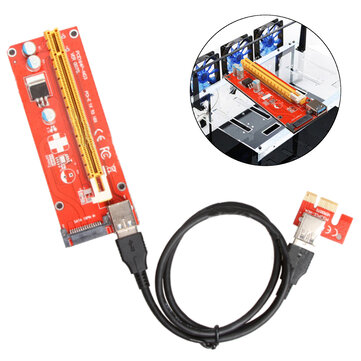 USB 3.0 Pcie PCI-E Express 1x To 16x Extender Riser Card Adapter Power BTC Expansion Cable Mining