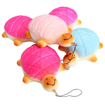 7cm Squishy Turtle Bread Random Tortoise Charm Cellphone Soft Charms Phone Bag Decor