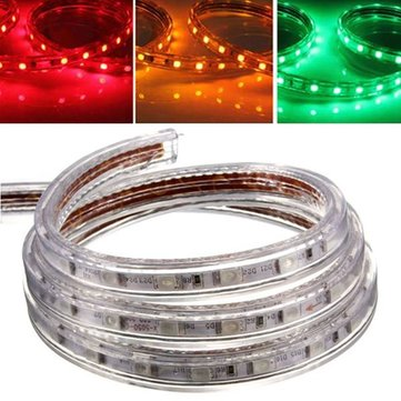 2M 5050 Waterproof IP67 Flexible Led Strip Light For XMAS Home Decor 110V