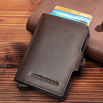 RFID Multi-function Genuine Leather Metal Card Package
